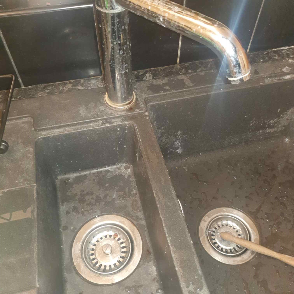two-sided grey sink